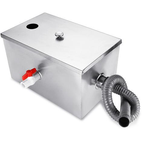 8Lb 5Gpm Galones por minuto Acero inoxidable Tratamiento de aguas residuales Trampa de grasa Kits de interceptor para cocina Hasaki