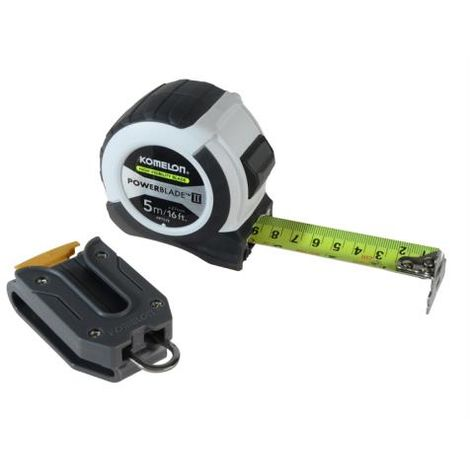 8m (26ft) White Tape Measure with Belt Clip