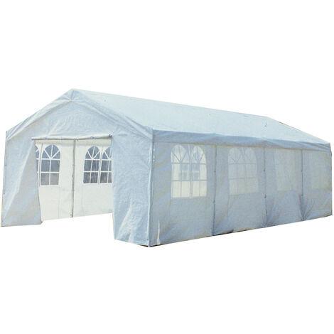 8M X 4M Garden Large Marquee Wedding/Party Tent Gazebo - White Showerproof