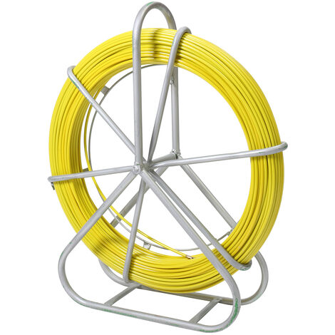 8mm 150m Fiberglass Duct Rodder Fish Tape Cable Pulling Rod Wire puller push pull rod