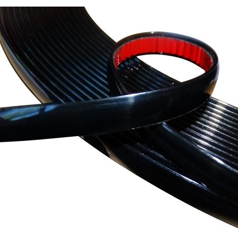 8mm 4.5m Bande baguette adhésive couleur noir