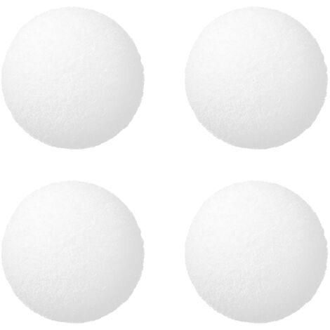 8pcs esponja blanca Filtro bolas ecologica reutilizable piscina bola de limpieza del filtro, 8pcs