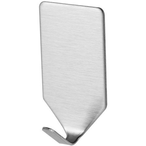 8pcs, gancho adhesivo Adhesivo de acero inoxidable Ganchos, Fuerte suspension de la pared