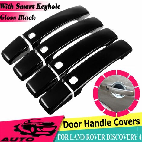 8pcs Glossy Black Smart Door Handle Covers For LAND ROVER DISCOVERY 4 2010-2016