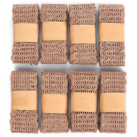 8Pcs Jute rouleau de ruban garniture en tissu rouleau large ruban Artisanat Largeur 45mm pour la decoration de mariage Emballage cadeau Hand Craft