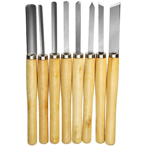 8Pcs Wood Carving Tool Kit Wood Chisel Set Hasaki