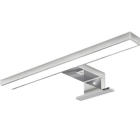 8W 60cm Miroir Lumineux Led,Non Scintillement,Pince sur Miroir, Mur Lampe LED