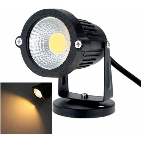 """main image of """"8W 85-265V AC IP65 Foco de cesped LED de aluminio negro"""""""
