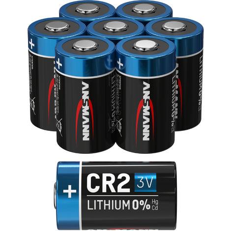 8x batterie au lithium ANSMANN CR2 3V - batterie haute puissance (lot de 8)