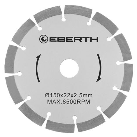 8x Discos de diamante universal ((D 150 x d 22,2 x 2,5 mm, 8500 U/min., poco desgaste, segmentado)