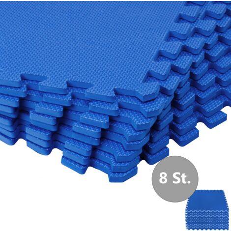 "main image of ""8x Foam Mat Interlocking EVA Protection Mats Pool Floor Sports Gymnastics Exercise Kids"""