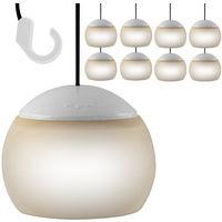8x Hängelampen Lampion für Pavillon mit LED