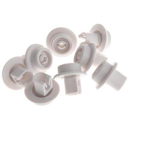 8x Korbrolle, Korbrollen Unterkorb passend für AEG Electrolux Spülmaschine von Juno, Matura, Privileg, Quelle - 5027905900/5, 5027905900