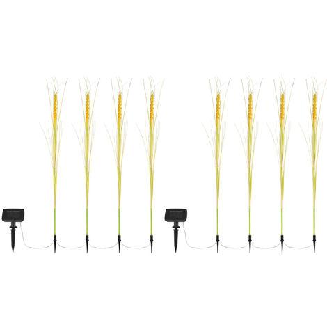 8x LED plug-in solaire extérieur lampes grain yard éclairage terrasse sol pic