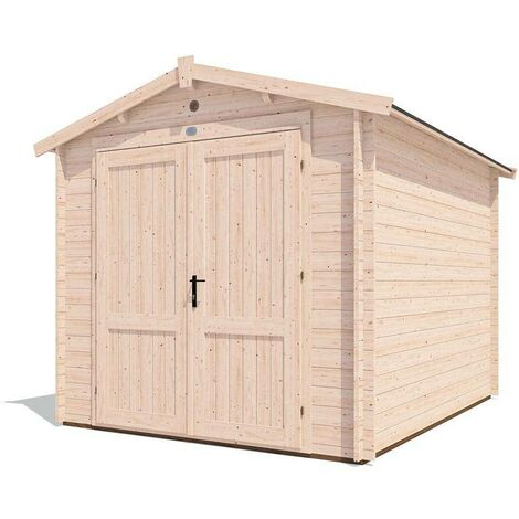 8x10 Shed Petrus - Wooden Garden Log Cabin Style Heavy Duty Secure Workshop Tool Storage Roof Felt Included