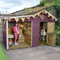 8'x4' (2.4x1.2m) Forest Dixie Duo Pressure Treated Playhouse