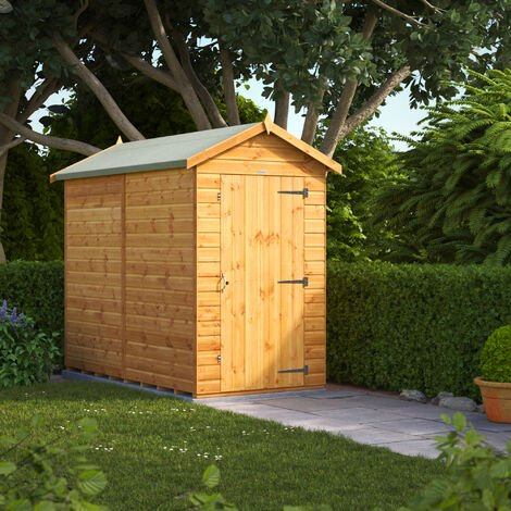 8x4 Power Windowless Apex Garden Shed