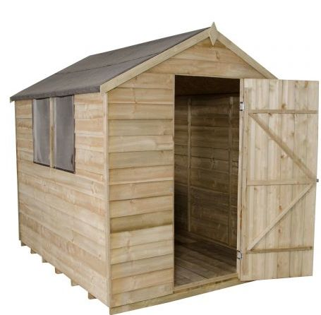 8'x6' Forest Apex Overlap Pressure Treated Shed