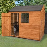 8'x6' Forest Dip Treated Overlap Reverse Apex Shed