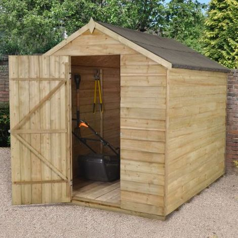 8'x6' Forest Overlap Apex Shed Pressure Treated No Window