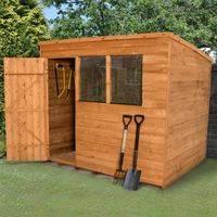 8'x6' Forest Overlap Dip Treated Pent Shed