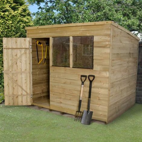 8'x6' Forest Overlap Pressure Treated Pent Shed