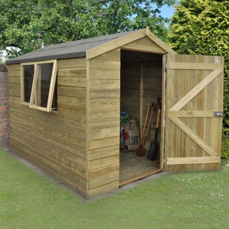 8'x6' Forest Tongue & Grooved Apex Shed Pressure Treated