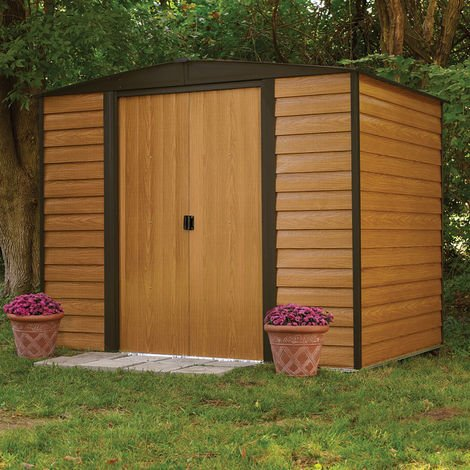 8x6 Woodvale Metal Apex Shed with Floor
