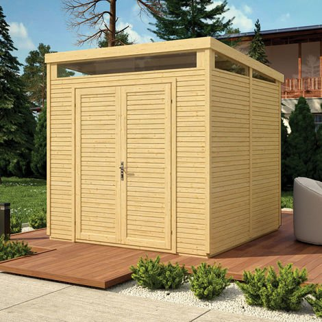 """main image of """"8x8 Pent Security Shed - Unpainted Natural"""""""