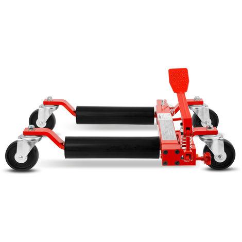 "9"" Car Wheel Dolly (680 kg load per unit, 630 mm spread max., 285 mm lift height max.) Skates Jack"