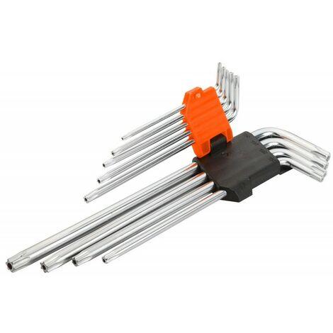 9 clés torx à bras extra-long