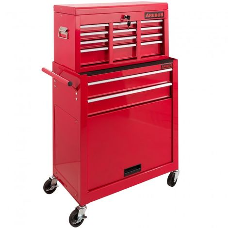 9 Compartment Tool Trolley Roller Cabinet Tool box