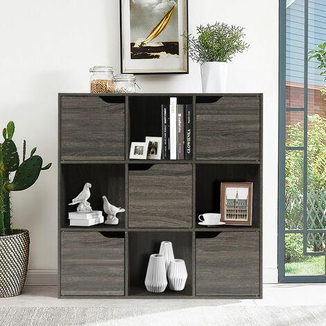 "main image of ""9 Cube Bookcase Shelf Wooden Display Unit Organiser Storage Cupboard Cabinet"""