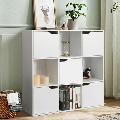 """main image of """"9 Cube Bookcase Shelving Display Storage Unit Wooden Organiser Cupboard Cabinet"""""""