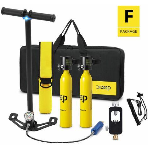 9 EN 1 Système de Plongée 0.5L Mini D'Air de Scaphandre Réservoirs Scuba Cylindre D'oxygène Réservoirs D'air Pompe Plongée