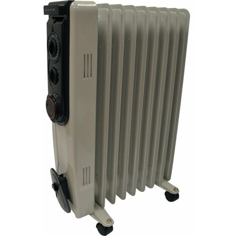 9-FIN Oil Filled Radiator 2KW With Timer
