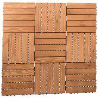 9 Pack Wooden Deck Floor Tiles