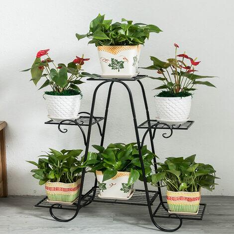 9 Tier Metal Plant Stand Rack Garden Flower Display Shelf