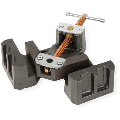 90° Angle Vice (75 mm Jaws, 55 mm Opening, 35 mm Jaw Depth, Spindle Axis)