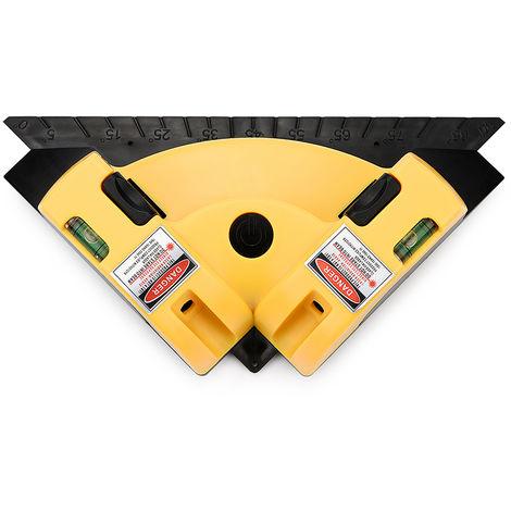 "main image of ""90 degree square ruler laser spirit level"""