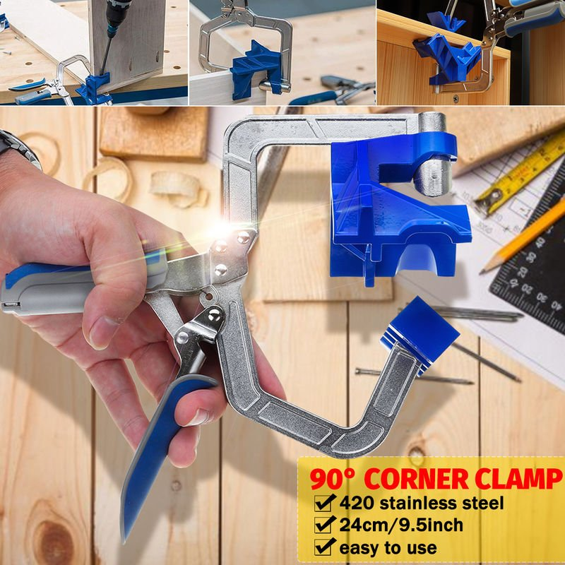 90 ° lámpara de esquina y alicates en T herramienta herramienta alicates de ángulo recto carpintería suministros abrazadera del marco 9.5 pulgadas