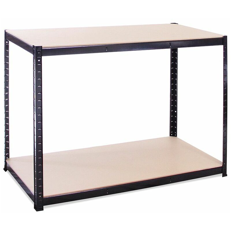 Image of Black Storage Workbench 90 x 120 x 60cm, 300KG Per Shelf Capacity - G-RACK