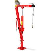 900 kg Gru Pick-Up idraulico (Verricello, Gancio di carico, Catena, Altezza di sollevamento 1900 mm, 360° Funzione girevole, pieghevole) Gruetta da officina