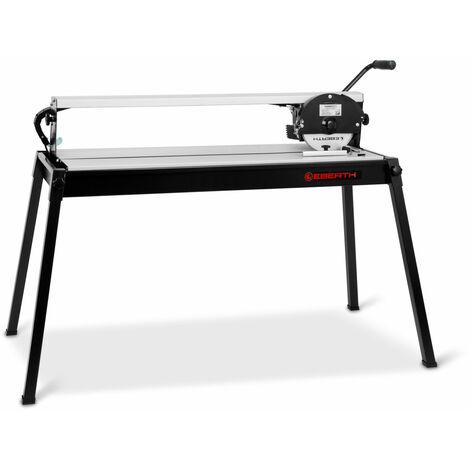 900 mm elektrische Fliesenschneidemaschine mit Laser (stufenlos schwenkbar bis 45°, 25 mm Schnitttiefe, Winkelanschlag, Diamanttrennscheibe) Fliesenschneider Nassschneider Schneidemaschine