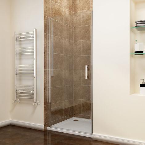 900 x 1700mm Frameless Pivot Shower Door Enclosure 6mm Safety Glass Reversible Shower Cubicle Door + Shower Tray