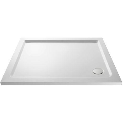 900 X 700 Slimline Rectangular Stone Resin Shower Tray And Free Waste