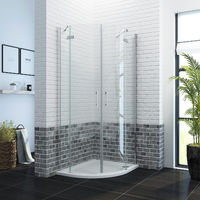 900 x 760mm Quadrant Shower Enclosure Pivot Hinge 6mm Glass Shower Cubicle Door