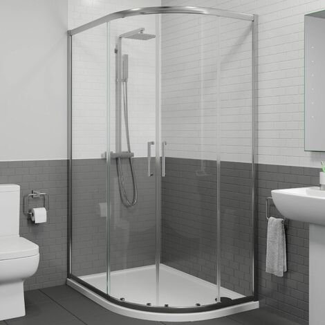 900 x 760mm Right Hand Offset Quadrant Shower Enclosure Framed 8mm Safety Glass