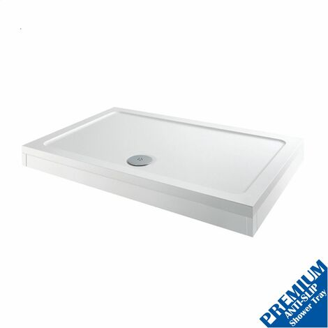 900 x 760mm Shower Tray Rectangular Easy Plumb Premium Anti-Slip FREE Waste Trap