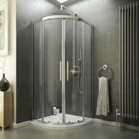 900 X 900 Quadrant Shower Enclosure 8mm Easy Clean Glass + Tray